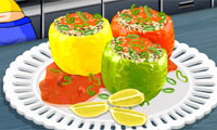 Stuffed Peppers: Sara's Cooking Class